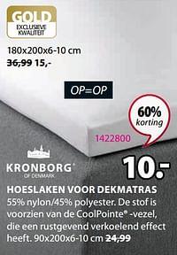 Hoeslaken voor dekmatras-Kronborg