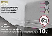 Jersey-badstof hoeslaken-Kronborg