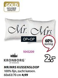 Mr-mrs kussensloop-Kronborg
