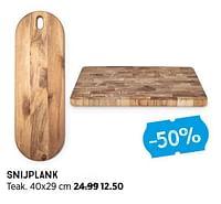 Snijplank teak-Huismerk - Xenos