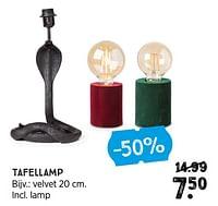 Tafellamp velvet-Huismerk - Xenos