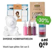Washi tape glitter-Huismerk - Xenos