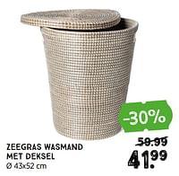 Zeegras wasmand met deksel-Huismerk - Xenos