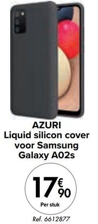 Azuri liquid silicon cover voor samsung galaxy a02s-Azuri
