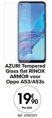 Azuri tempered glass flat rinox armor voor oppo a53-a53s-Azuri