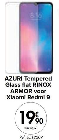 Azuri tempered glass flat rinox armor voor xiaomi redmi 9-Azuri