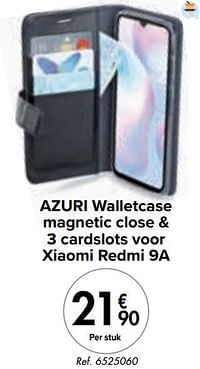 Azuri walletcase magnetic close + 3 cardslots voor xiaomi redmi 9a-Azuri