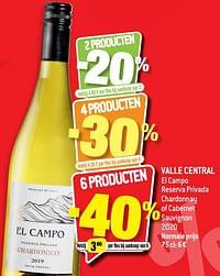 Valle central el campo reserva privada chardonnay of cabernet sauvignon 2020-Witte wijnen