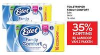 Toiletpapier family comfort edet 35% korting bij aankoop van 2 pakken-Edet