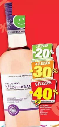 Vin de pays méditerraee l`ame du terroir 2020-Rosé wijnen