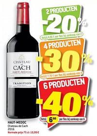 Haut-medoc chateau de cach 2016-Rode wijnen