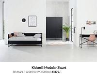 Kidsmill modular zwart bedbank + onderstel-Kidsmill