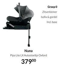 Nuna pipa lite lx autostoeltje oxford-Nuna