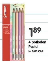 4 potloden paste-Stabilo