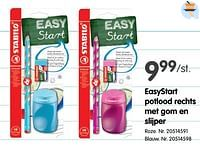 Easystart potlood rechts met gom en slijper roze-Stabilo