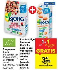 Biogranen bjorg + amandel zonder suiker bjorg-Bjorg