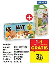 Ontbijtgranen nat beertjes + brik halfvolle melk kwaliteitsketen carrefour-Huismerk - Carrefour