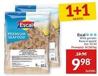 Escal wilde gamalen rauw en gepeld-Escal