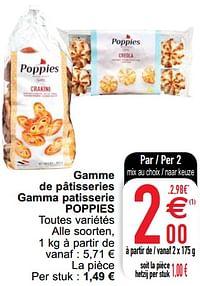 Gamme de pâtisseries gamma patisserie poppies-Poppies