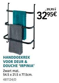 Handdoekrek voor deur + douche irpinia-Wenko