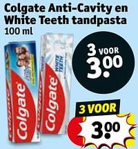 Colgate anti-cavity en white teeth tandpasta-Colgate