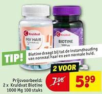 Kruidvat biotine 1000 mg-Huismerk - Kruidvat