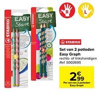 Set van 2 potloden easy graph-Stabilo