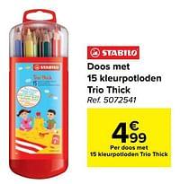Doos met 15 kleurpotloden trio thick-Stabilo