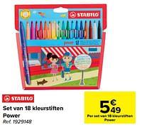 Set van 18 kleurstiften power-Stabilo