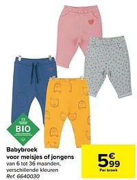 Babybroek voor meisjes of jongens-Tex