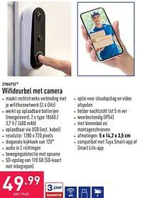 Wifideurbel met camera-SYNAPSE