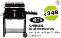Boretti carbone houtskoolbarbecue-Boretti