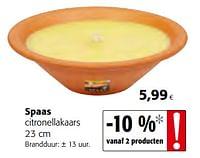 Spaas citronellakaars-Spaas