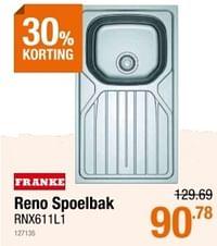 Reno spoelbak-Franke