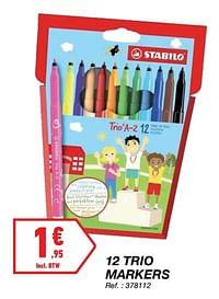 12 trio markers-Stabilo