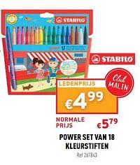 Power set van 18 kleurstiften-Stabilo