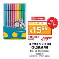 Set van 20 stiften colorparade-Stabilo
