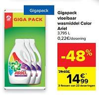 Gigapack vloeibaar wasmiddel color ariel-Ariel