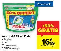 Wasmiddel all in 1 pods + active ariel-Ariel