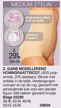 Gaine modellerend honingraattricot-Huismerk - Damart