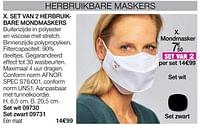 Set van 2 herbruikbare mondmaskers-Huismerk - Damart