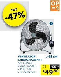 Ventilator chroom-zwart-Huismerk - Zelfbouwmarkt