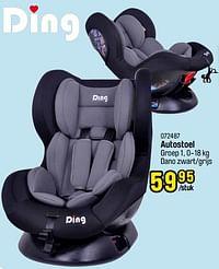 Autostoel dano zwart-grijs-Ding