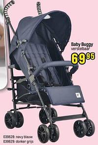 Baby buggy verstelbaar navy blauw-Huismerk - Happyland