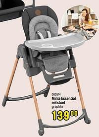Minla essential eetstoel graphite-Maxi-cosi