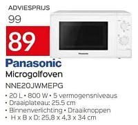 Panasonic microgolfoven nne20jwmepg-Panasonic