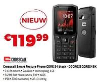 Crosscall smart feature phone core s4 black - dgcrosscores4bk-Crosscall
