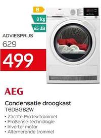 Aeg condensatie droogkast t6dbg82w-AEG