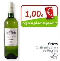 Graves château pavillon de boyrien wit-Witte wijnen