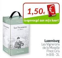 Luxemburg les vignerons de la moselle pinot gris-Witte wijnen